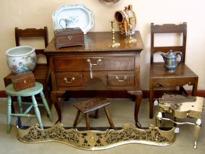 antique furniture and clocks